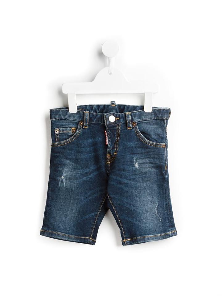 Dsquared2 Kids Distressed Denim Shorts