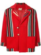 Fake Alpha Vintage 1940's Chimayo Blanket-style Jacket - Red