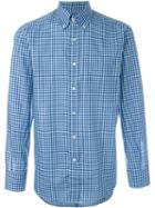 Canali Gingham Checked Shirt