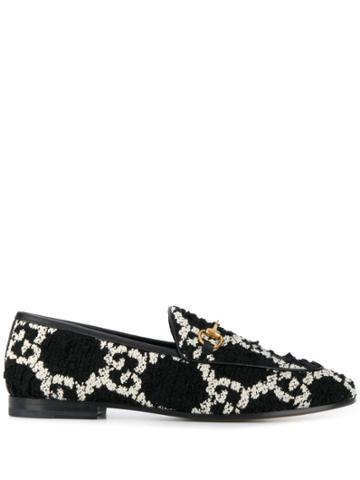 Gucci Jordaan Gg Loafers - Black