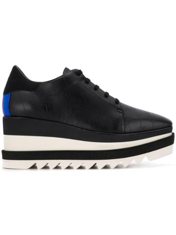Stella Mccartney Sneak-elyse Monogram Sneakers - Black