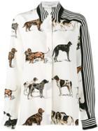 Stella Mccartney Dog And Stripe Print Shirt - Nude & Neutrals