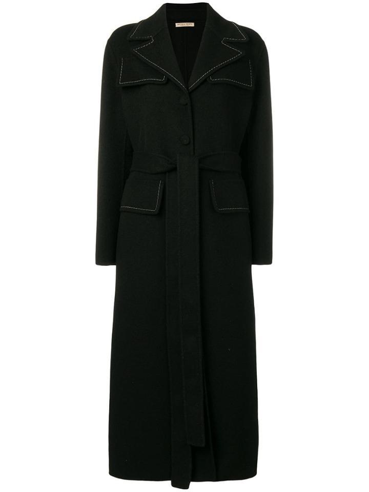 Bottega Veneta Stitch Detail Coat - Black