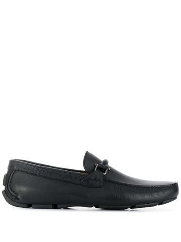 Baldinini T-strap Detail Loafers - Black