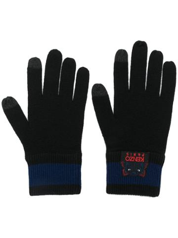 Kenzo Embroidered Logo Gloves - Black