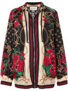 Gucci Floral Chain Oversized Jacket - Multicolour