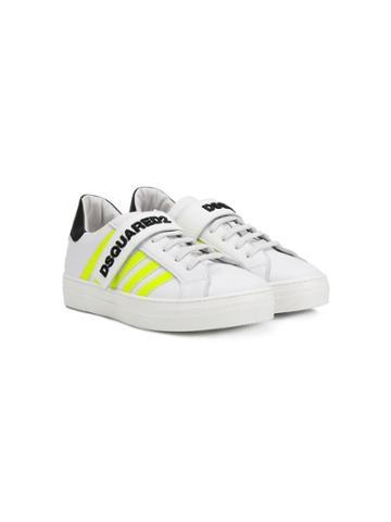 Dsquared2 Kids Teen Logo Strap Sneakers - White