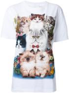 Wall Cat Print T-shirt