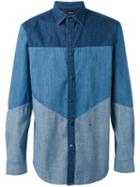 Diesel Panelled Denim Shirt, Men's, Size: Xl, Blue, Cotton