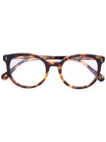 Stella Mccartney - Tortoiseshell Oval Shape Glasses - Women - Acetate - 49, Brown, Acetate