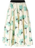 Eggs Floral A-line Skirt