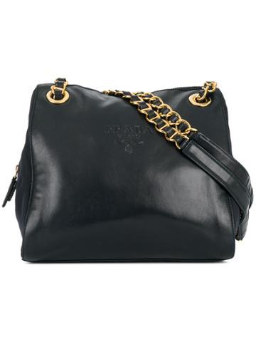 Prada Vintage Chain Straps Shoulder Bag - Black