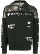 Versace Jeans Couture Logo Printed Hoodie - Black