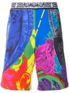 Versace Printed Shorts - Blue