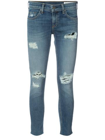 Rag & Bone /jean Skinny Cropped Jeans - Blue