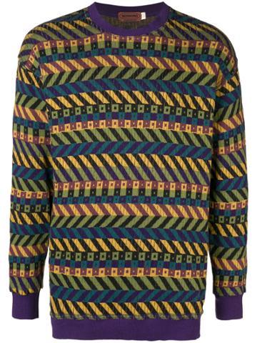 Missoni Vintage Geometric Stripe Knitted Sweatshirt - Multicolour