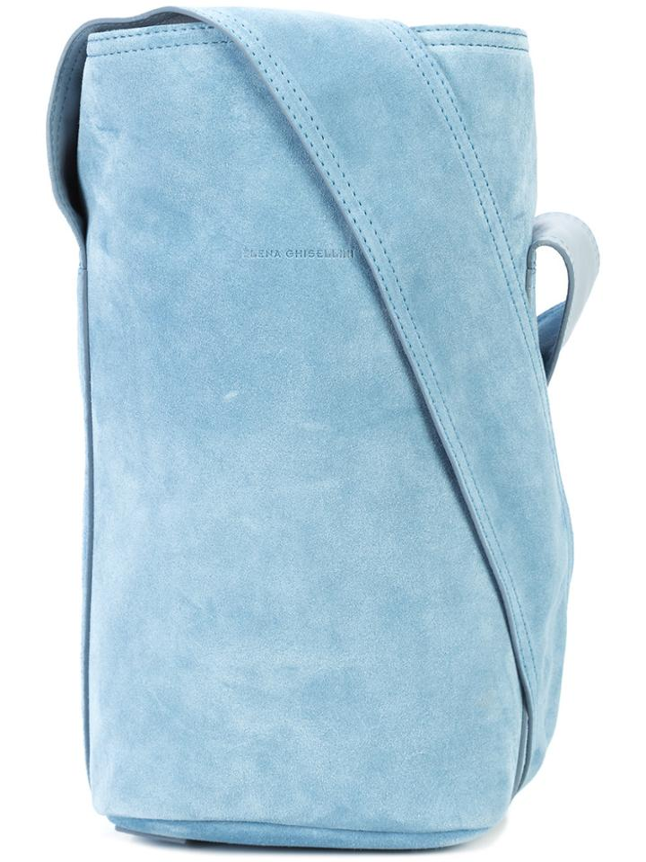 Elena Ghisellini Caddy S Shoulder Bag - Blue
