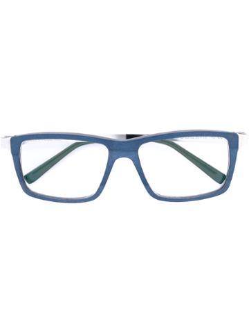 Gold And Wood - Soho Glasses - Unisex - Wood/metal - 56, Grey, Wood/metal