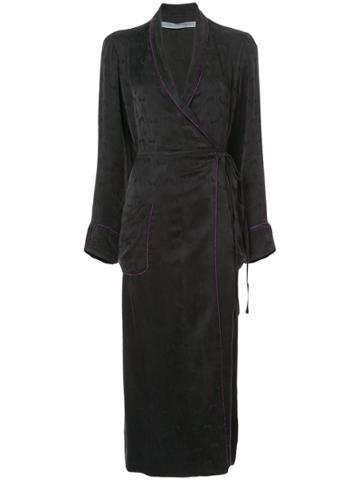 Raquel Allegra Robe Coat - Black