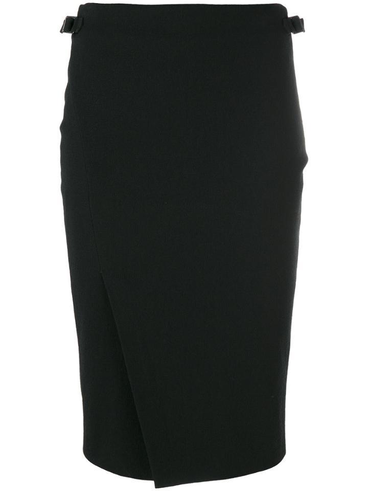 Tom Ford Front Slit Skirt - Black