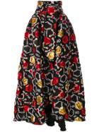 Ultràchic Patterned Full Skirt - Black
