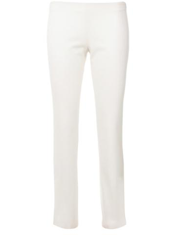 Romeo Gigli Vintage Cropped Slim Trousers - White
