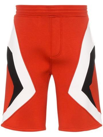Neil Barrett Geometric Print Modern Shorts - Red
