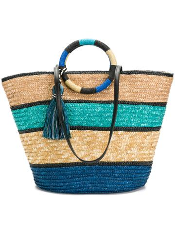 Rebecca Minkoff Colour Block Woven Shopper Bag - Blue