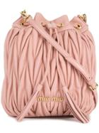 Miu Miu Matelassé Bucket Bag - Pink & Purple