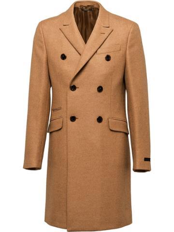 Prada Camel Twill Coat - Brown