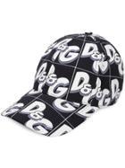 Dolce & Gabbana Logo Print Cap - Blue