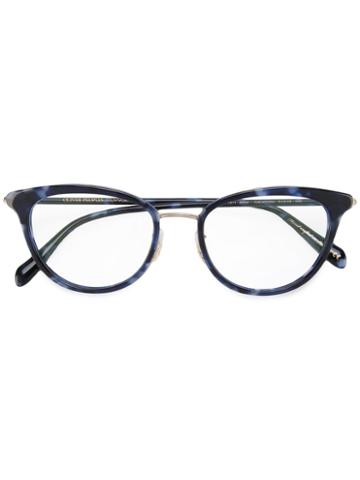 Oliver Peoples Theadora Glasses, Blue, Acetate/metal