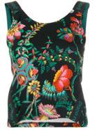 Paco Rabanne Floral Print Tank Top - Black