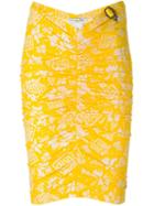 Christian Dior Vintage Fitted Print Skirt