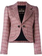 Roberto Cavalli Cropped Tweed Jacket