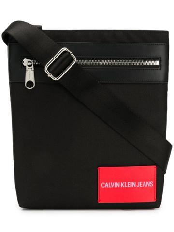 Calvin Klein Jeans Logo Messenger Bag - Black