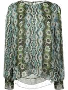 Altuzarra Patterned Longsleeved Blouse - Green