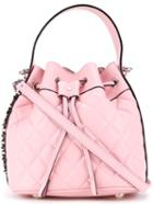 Moschino Quilted Bucket Tote, Women's, Pink/purple