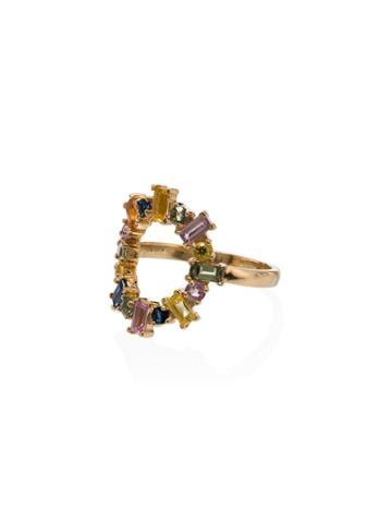 Ileana Makri 18k Yellow Gold Rainbow Sapphire Ring - Multicoloured