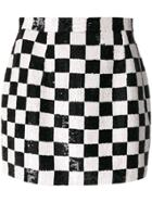 Ashish Sequins Check Mini Skirt - Black