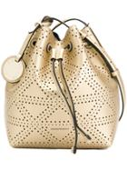 Emporio Armani Embossed Style Satchel Bag - Metallic