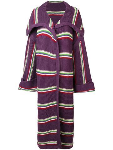 A.n.g.e.l.o. Vintage Cult 1970 Oversized Coat - Purple
