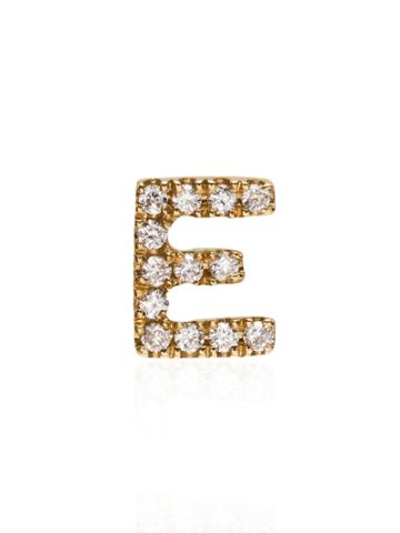 Loquet 18kt Yellow Gold E Letter Charm