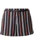 Loveless Striped Belted Shorts
