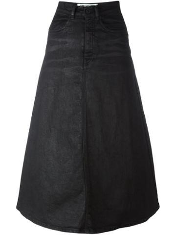 Off-white A-line Midi Skirt
