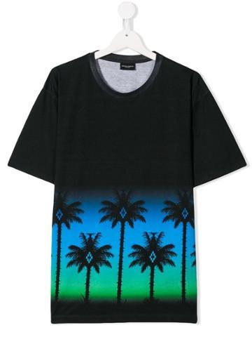 Marcelo Burlon County Of Milan Kids Palms T-shirt - Black