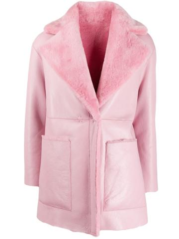 Blancha Wool Collar Coat - Pink