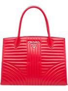 Prada Prada Diagramme Leather Handbag - Red