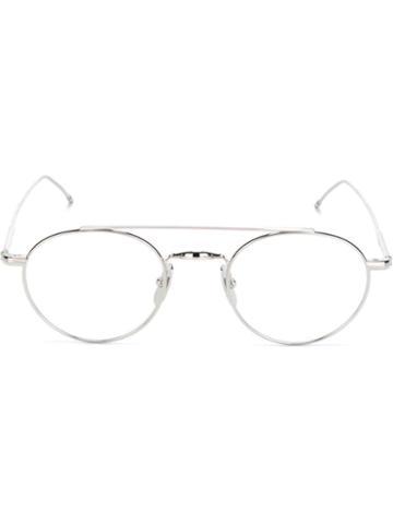 Round Frame Glasses - Unisex - Titanium - One Size, Grey, Titanium, Thom Browne