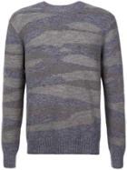Michael Bastian Patterned Crewneck Sweater - Grey